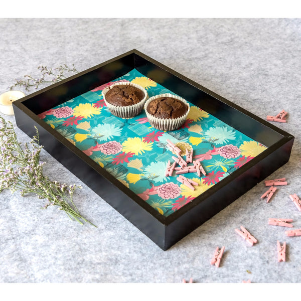 Handcrafted Cosmic Small Tray at Qtrove