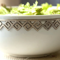 Handcrafted Fine China Large Greek Design Bowl