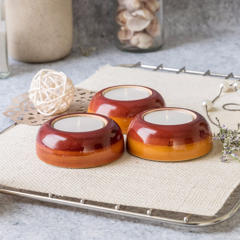Wooden T-Light Circular Candle Holder