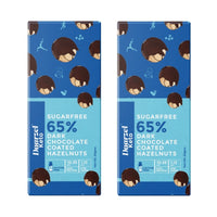 Keto - 65% Dark Chocolate Coated Hazelnut  (Pack of 2)(Sugar Free)