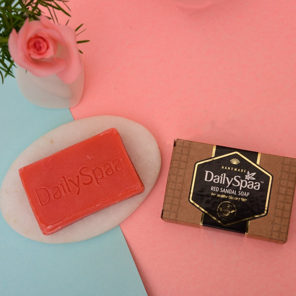 Handmade Red Sandal Soap at Qtrove