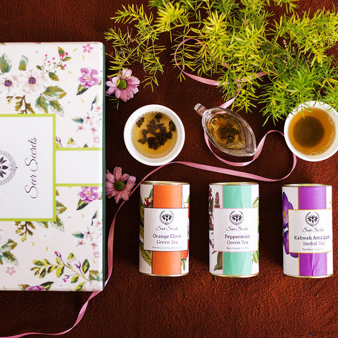 Darjeeling 1st Flush Green Tea Set (3 Enticing Flavour of Green Tea in a Box)