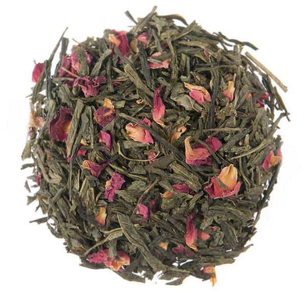 Darjeeling Green Tea With Rose Petals (Loose Tea) (Calorie Free, Anti Aging, Calming, Soothing, Stress Reliever) at Qtrove