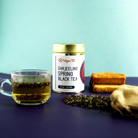 Darjeeling Spring Black Tea (Natural & Pure Whole Leaf Tea)