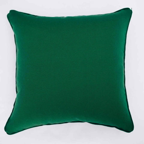 Dark Green Solid Cushion Cover (Single)
