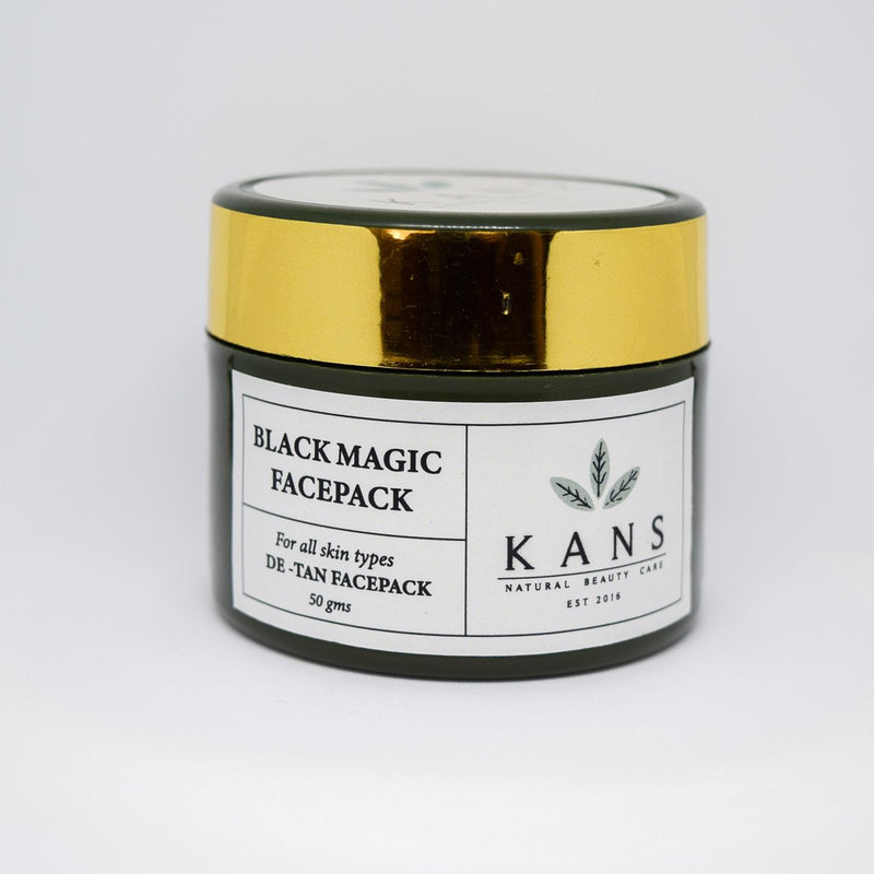 De Tan Black Magic Face Pack - 100% Natural