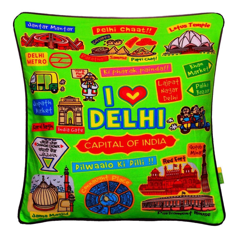 Cushion Cover - Delhi (Coloured)