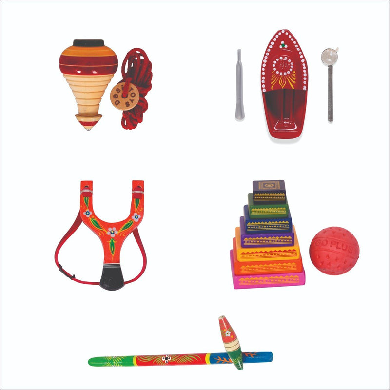 Desi Toys Popular Indian Games (Pack of 5)