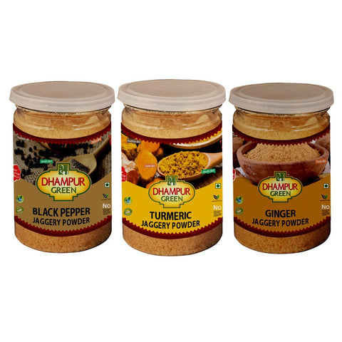 Healthy Flavoured Jaggery Powder (Ginger & Black Pepper & Turmeric )