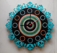 Dot Painting Wall Clock