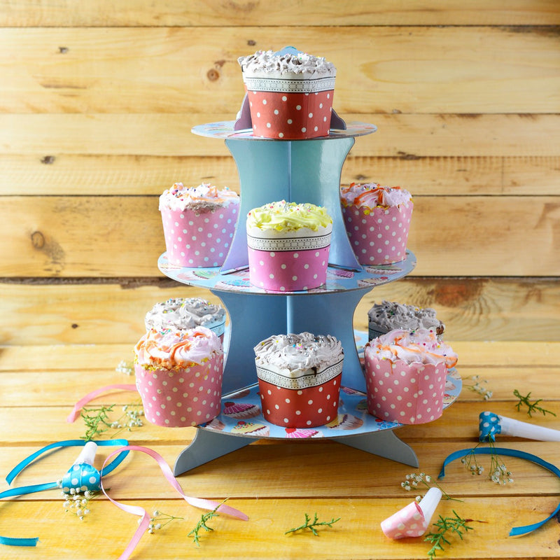 Blue Cupcake Party Stand