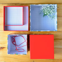 Kiddie Gift Box Square (Red) (Set of 3)