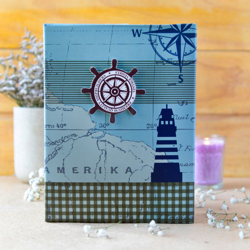 Hat Box (Nautical Compass) (Set of 3)