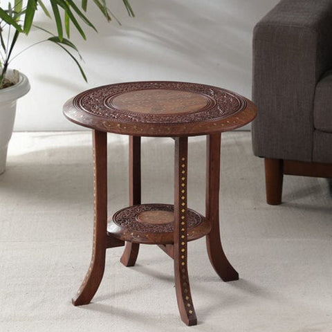 Double Top Carving Rosewood Table