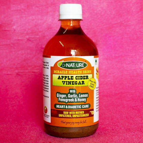 Heart & Diabetic Care Health Drink (Apple Cider Vinegar With Ginger,Garlic,Lemon,Fenugreek & Honey)