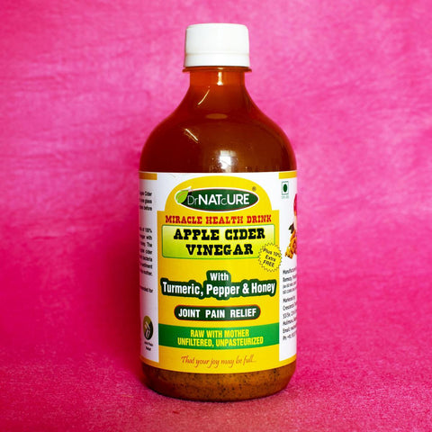 Joint Pain Relief Health Drink (Apple Cider Vinegar With Turmeric, Pepper & Honey)