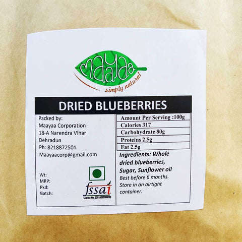 Dried Blueberries-100% Natural