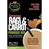 Organic Sprouted Ragi and Carrot Porridge Mix