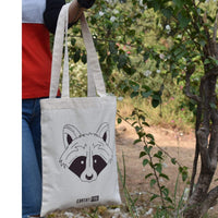 Earth Friendly Cotton Tote Bag (Unisex, Multipurpose & Brown Print)