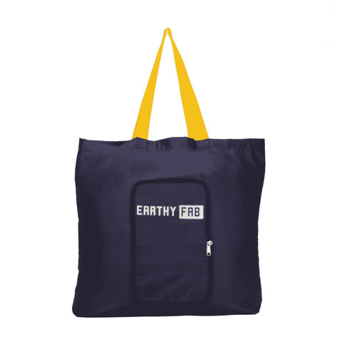 Foldable Shopping Bags (Set of 2) (Navy Blue)
