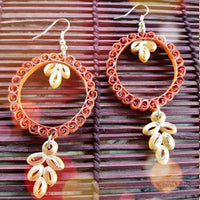 Eco-Chic Paper Earring in Orange
