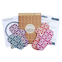 Organic Starter Kit (Eco Femme), Washable Cloth Pads - Pack Of 4