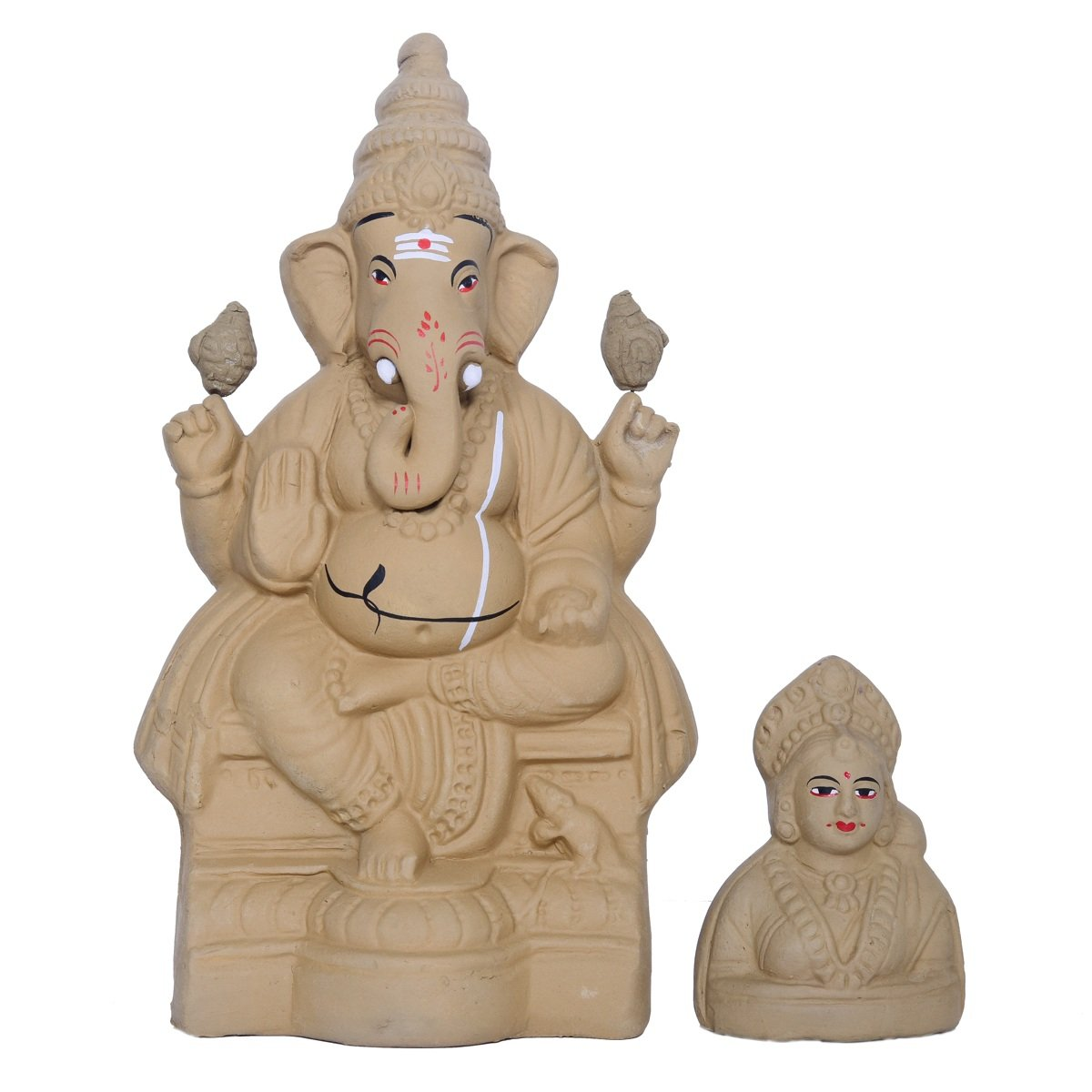 Eco Friendly Seed Ganesha With Gowri