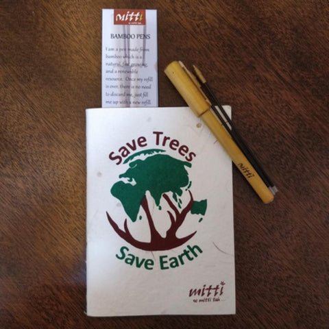 Eco Friendly Set Of Plantable Seed Paper Book With Bamboo pen