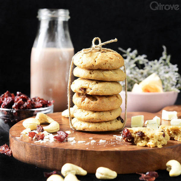 Chocolate Cranberry Olive Oil Cookies