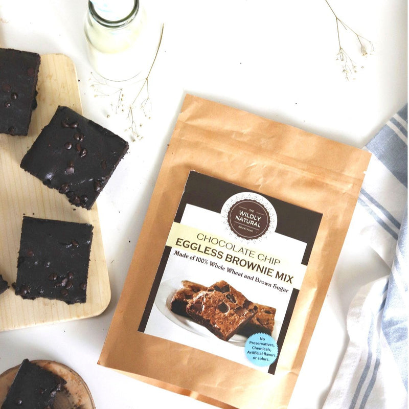 Eggless Chocolate Chip Brownie Mix