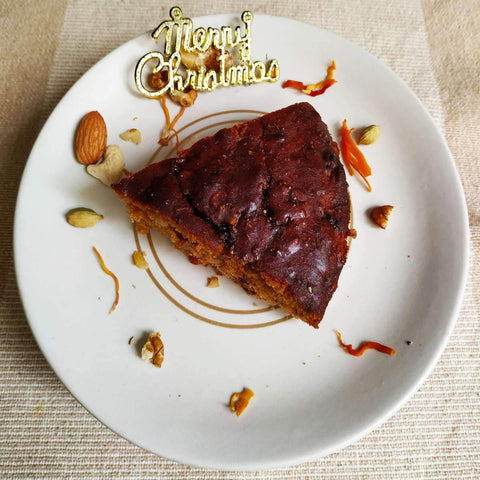 Eggless Christmas Cake