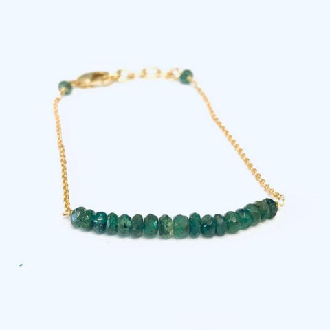 Emerald Gemstone Friendship Bracelet