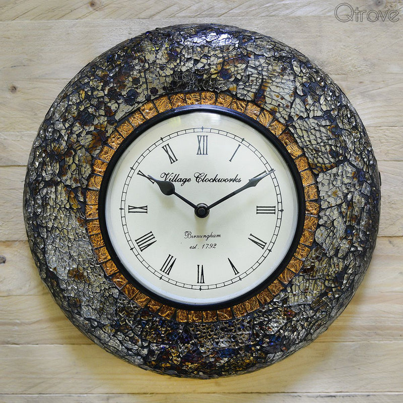 Handmade Mosaic Work Wall Clock