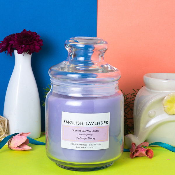 English Lavender - Scented Soywax Candle (100% Natural Wax) at Qtrove