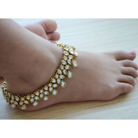 Ethic Kundan Triple Layered Payal
