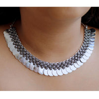 Ethnic Jewelry Coin Necklace Silver