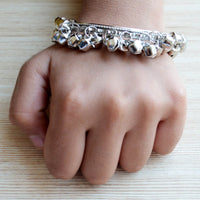 Ethnic Jewelry Silver Ghungroo Bangle