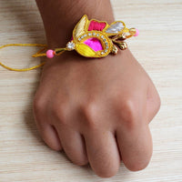 Rakhi With Gold Plated Bracelet Gift (Brother)