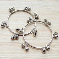 Ethnic Silver Ghungroo Bangle Pair