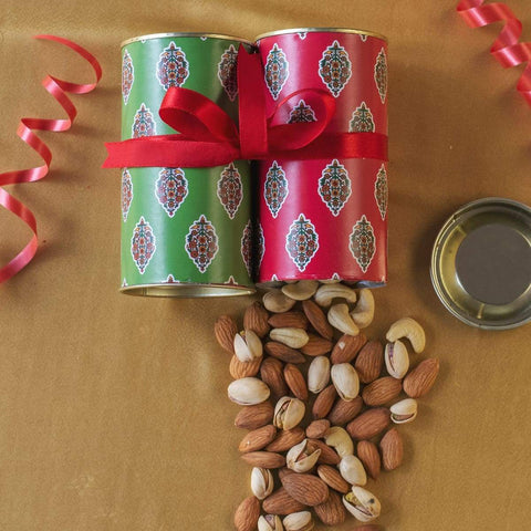 Dry Fruit Ethnic Tin Gift Hamper