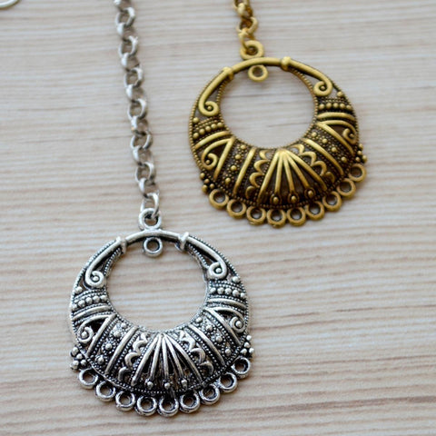 Ethnic Vintage Style Gold  & Silver Plated Maang Tikkas