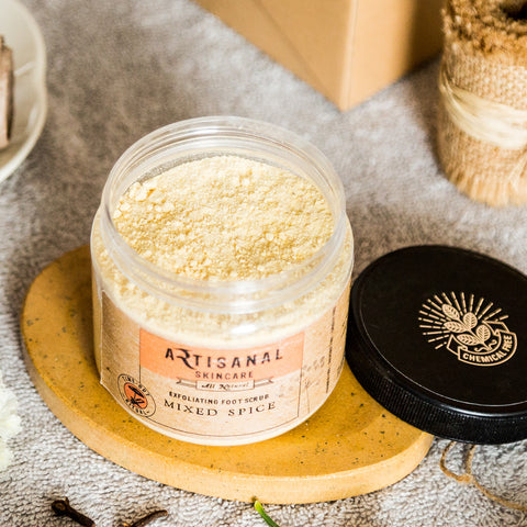 Chemical Free Mixed Spice Exfoliating Foot Scrub