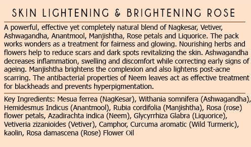Facial Treatment Pack (Skin Lightening & Brightening Rose) at Qtrove