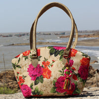 Handcrafted Floral Duo Bag