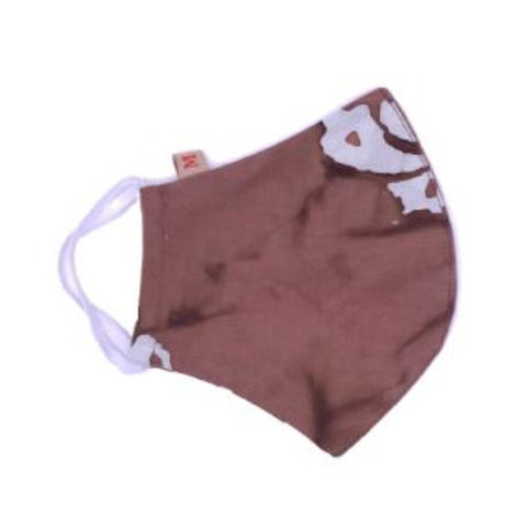 Face Mask (Cloth) - Reusable, Washable, Anti Pollution (Brown)