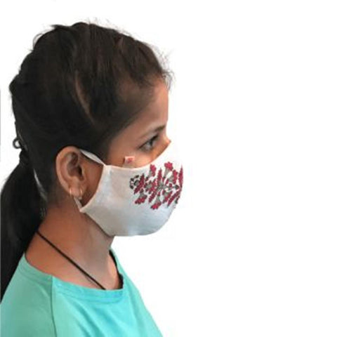 Face Mask (Cloth) - Reusable, Washable, Anti Pollution (Red)