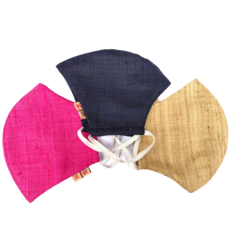 Washable Anti Pollution Multicolor Khadi Cotton Cloth Face Masks (Pack of 3)