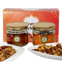 Festive Delight - Premium Roasted Seasoned Nuts & Seeds (Peri-Peri & Barbecue)