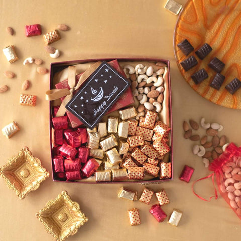 Festive Greeting Diwali Chocolate and Dry Fruits Hamper