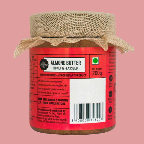 Festive Nut Butter Flaxseed Almond Butter & Honey Peanut Butter Creamy, (Pack of 2)